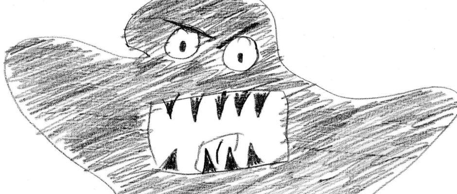 So stellt sich der EZ-Zeichner das von der Polizei gesuchte Monster vor.