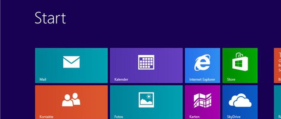 Schon der Startbildschirm vom neuen Windows 8 stellt die meisten Nutzer vor große Probleme.