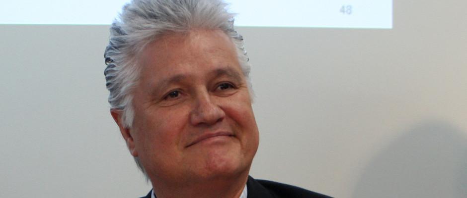 Deutschlands Historiker-Ikone Guido Knopp heute Morgen bei der Vorstellung des neuen ZDF-Filmprojektes.
