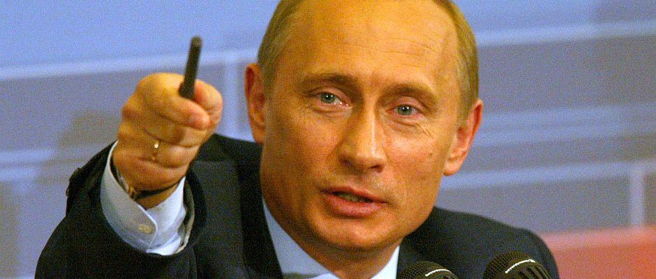 Putin heute Vormittag auf der Pressekonferenz.