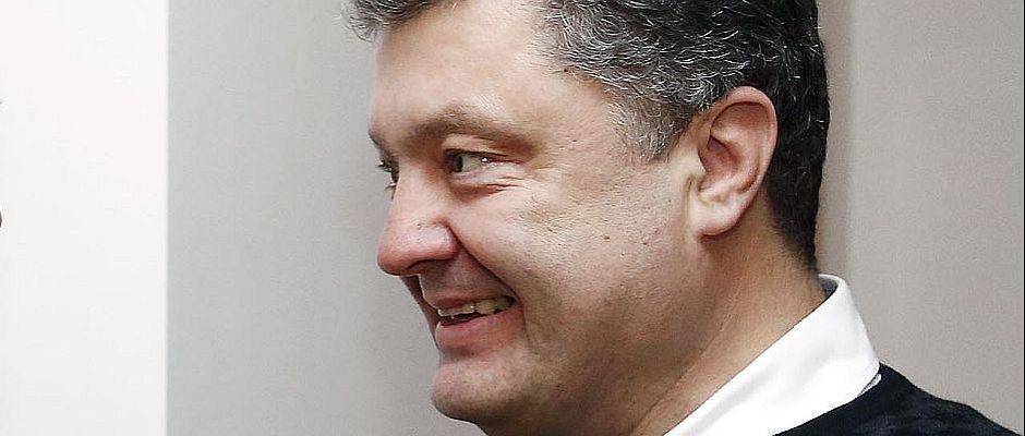 Vom französischen Volk zum neuen ukrainischen Präsidenten gewählt: Petro Poroschenko.