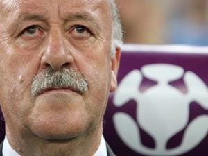 Ganz außer sich vor Freude, an der Krönung in Madrid teilnehmen zu können: Spaniens Nationaltrainer Vicente del Bosque.