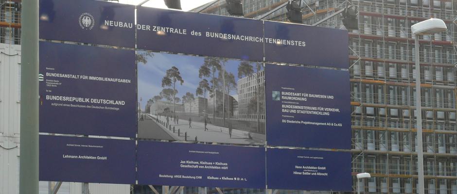 Der Neubau des BND in Berlin.