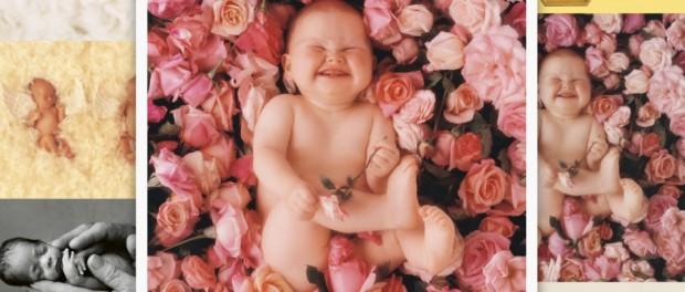 Bald zum Glück verboten: Bilder der Fotografin Anne Geddes. Hier exemplarisch ein Kind in entwürdigender Pose.