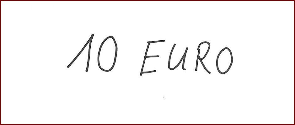 Sieht aus wie ein Zehn-Euro-Schein, ist aber eine Fälschung.