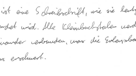 Endlich können auch handschriftliche Texte automatisch korrigiert werden.