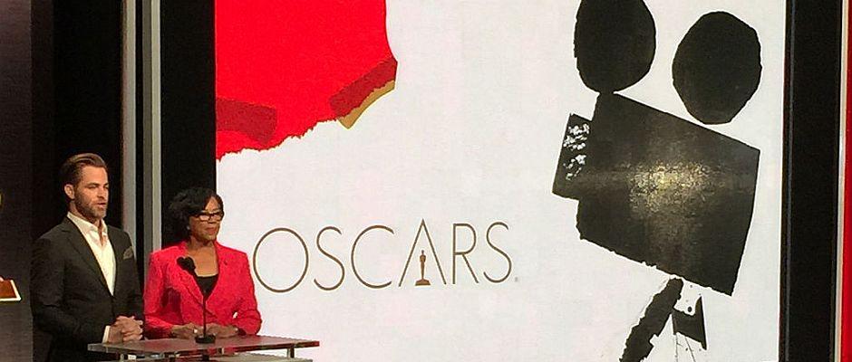 """Eine Szene aus """"Die Oscar-Verleihung 2015"""" mit Chris Pine als Chris Pine (links)."""