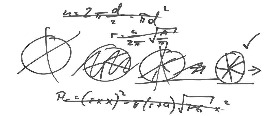 Eine von vielen Skizzen des Wissenschaftlers, die irgendwann zur neuen Erfindung des Rades geführt haben.