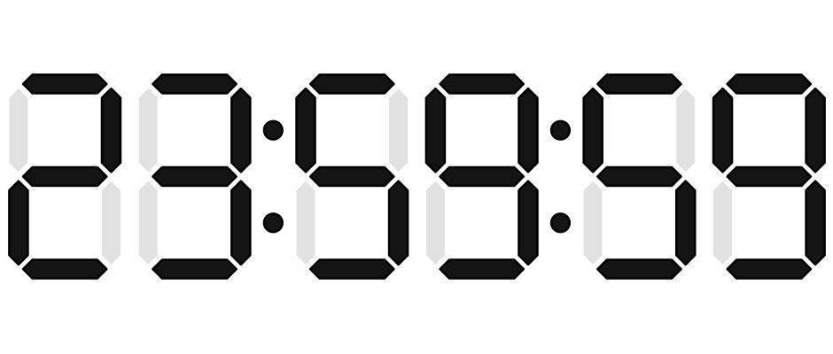 Diese Uhrzeit wird heute Nacht einen Augenblick länger zu sehen sein.