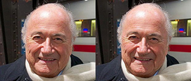 Joseph Blatter (links) will neuer Fifa-Präsident werden und damit Joseph Blatter (rechts) ablösen.