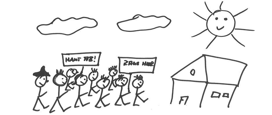So stellt sich unser EZ-Zeichner die Demos in Freital vor.