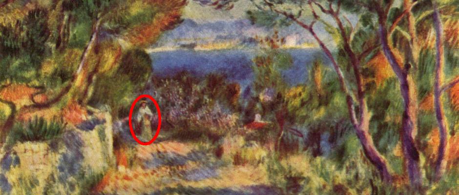 Unheimlich: Auf diesem Gemälde ist mit ein bisschen Fantasie eine Geisterescheinung zu sehen.