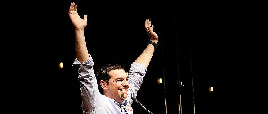 Ließ sich gestern noch als großer Sieger feiern: Alexis Tsipras.