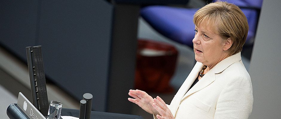 Hat endlich die richtigen Worte gefunden: Bundeskanzlerin Angela Merkel.