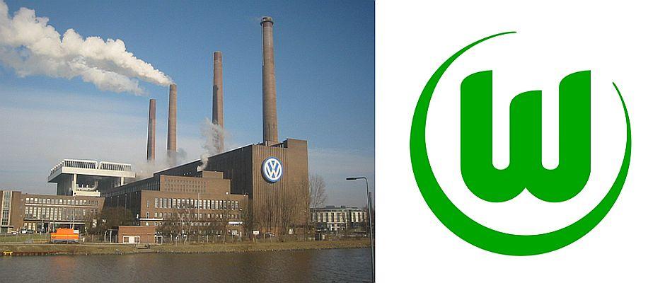 Volkswagen (links) muss sich schweren Herzens vom VFL Wolfsburg (rechts) trennen.