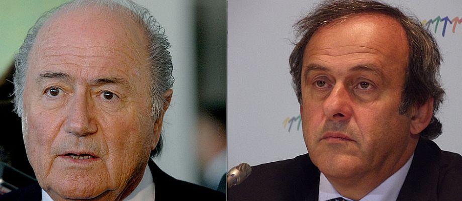 Haben eine lange Strafe vor sich. FIFA-Chef Joseph Blattter (links) und UEFA-Vorsitzender Michel Platini.
