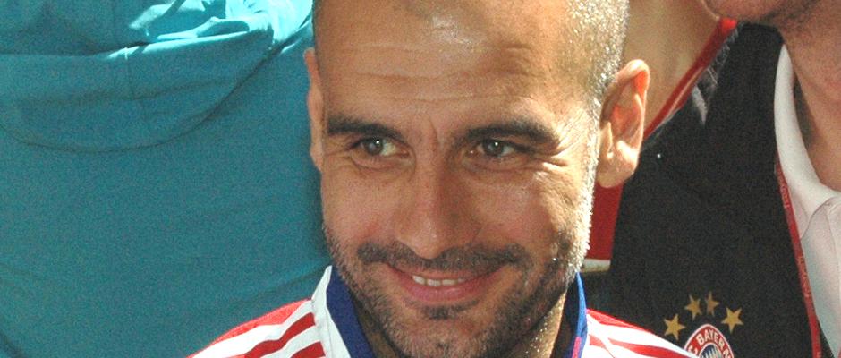 Weiß jetzt schon nicht mehr, wen er gestern besiegt hat: Bayerns Cheftrainer Pep Guardiola.