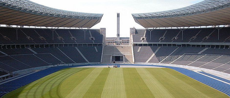 Das Olympiastadion in Berlin. Hier wird das DFB-Pokalfinale stattfinden.