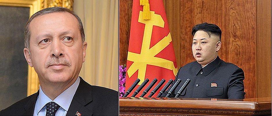 Kann noch viel von dem anderen lernen: Erdogan (links), Kim Jong-un (rechts)