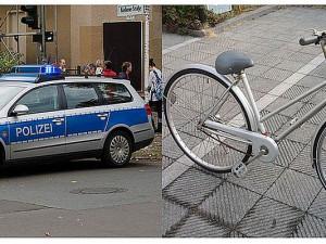 Ab Juli wird man Polizisten nur noch auf einem Fahrrad sehen (rechts). Die bisherigen Einsatzwagen (links) gehören dann der Vergangenheit an.