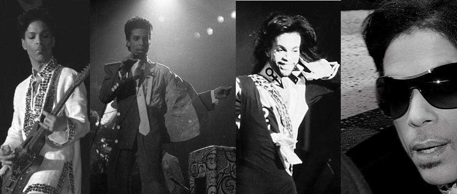 Sie werden uns fehlen. Von links nach rechts: Prince, Tafkap, The Artist und Symbol.