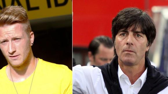 Marco Reus (Links) feiert heute Geburtstag. Jedoch ohne Jogi Löw (rechts), der die Welt nicht mehr versteht.