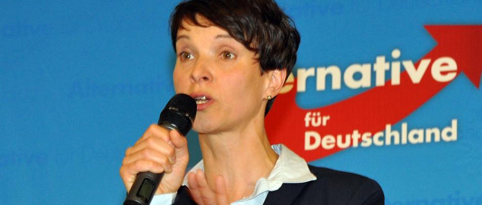 Dr. Frauke Petry, AfD-Chefin, hat wieder was zum Aufregen.