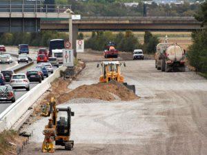 Wird man bald nicht mehr sehen: Eine Baustelle mitten auf der Autobahn.