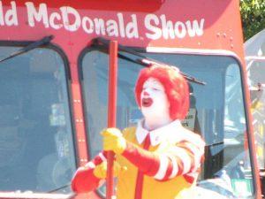 Zukünftig nur noch ungeschminkt und damit weniger Unheimlich: Ronald McDonald.