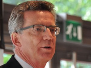 Warnt jedes Jahr aufs Neue: Innenminister Thomas de Maizière.