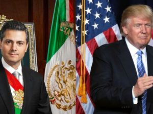 Nähern sich an: Mexikos Präsident Nieto (links) und US-Präsident Donald Trump.