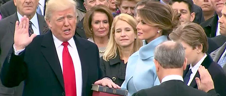 Da war die Welt noch in Ordnung: Trump vor wenigen Tagen bei seiner Vereidigung.