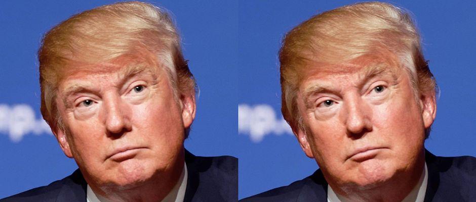 Großartige Leistung: Parodist Donald Trump (links) und US-Präsident Donald Trump (rechts)
