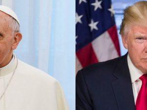 Trump (rechts) traf heute auf Papst Franziskus (links).