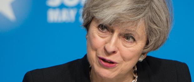 Die britische Regierungschefin Theresa May.