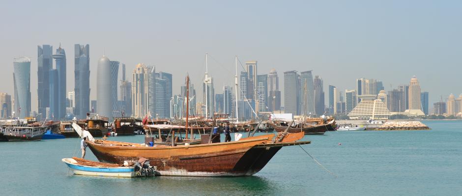 Die Hauptstadt Katars, Doha. Hübsch.