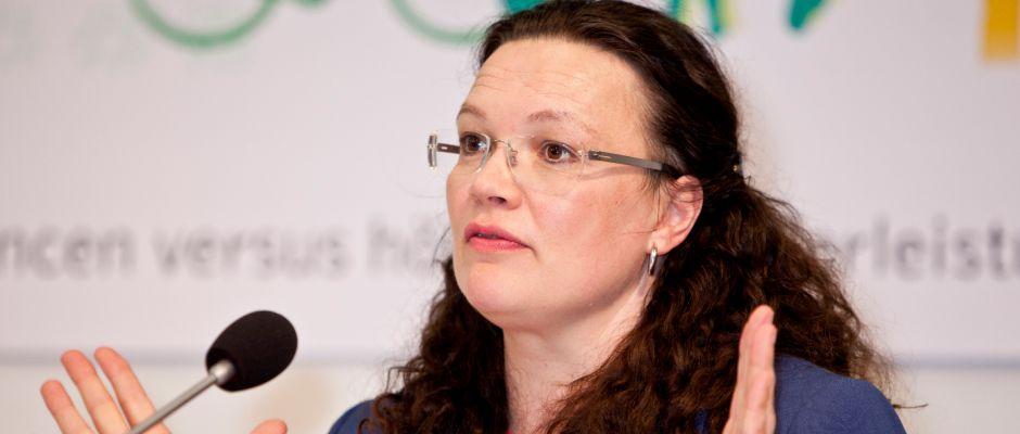 Sorgte mit ihrer Äußerung vor allem in den Reihen der AfD für viel Kritik: Andrea Nahles.