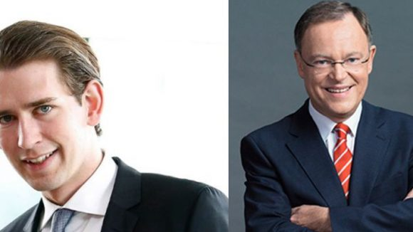 Sebastian Kurz (links) und Stephan Weil können eigenen Aussagen zufolge sehr gut mit dem Ausgang der Wahl leben.