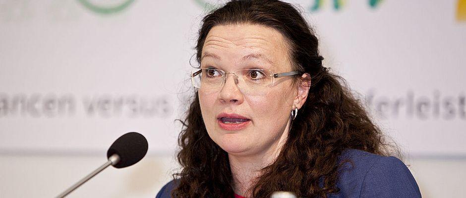 Ist ein Verhandlungsfuchs: Andrea Nahles.
