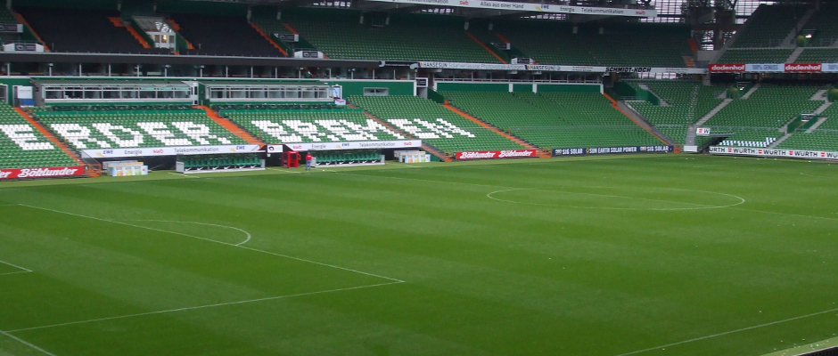 So wird das Weserstadion ab diesem Wochenende an Heimspieltagen aussehen.