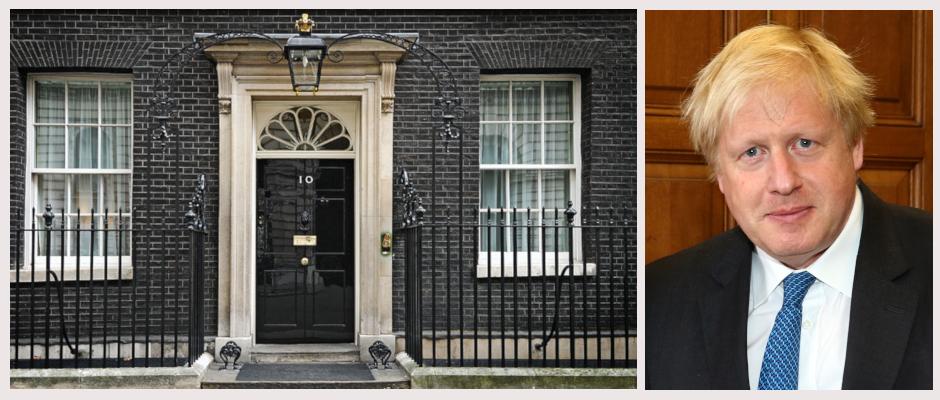 Noch wird das Haus von Theresa May bewohnt. Bald aber kann Boris Johnson (rechts) in das begehrte Anwesen einziehen.