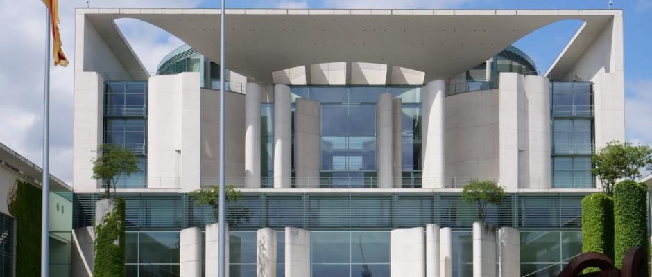 Das Bundeskanzleramt in Berlin.